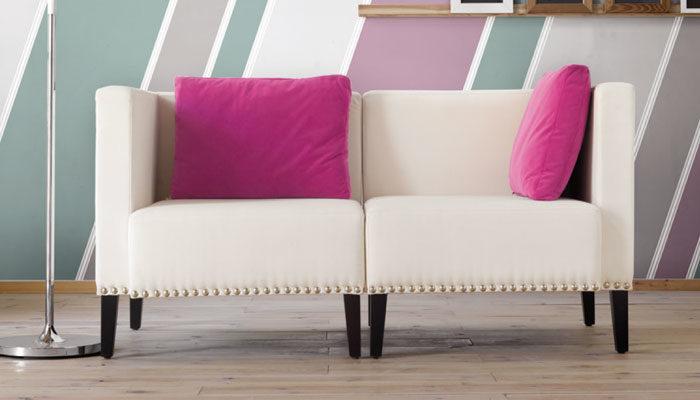 imatge d'un sofà decoratiu de la marca Lujosa Tapizados