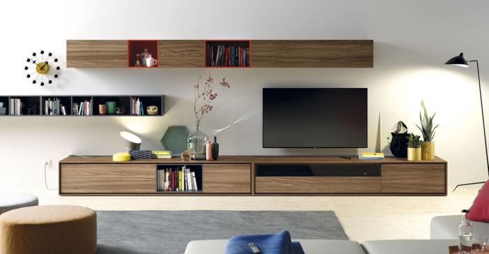 imatge menjador amb mobles de fusta de la marca vive