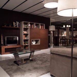 Moble de televisor fusta noguera | Mobles Güell