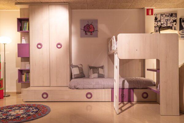 Dormitori juvenil lila   Mobles Güell
